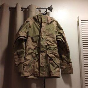 US military GI hooded desert camo jacket